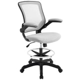 Modway Modern Veer Drafting Stool Adjustable Computer Office Chair - Minimal & Modern - 9