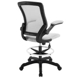 Modway Modern Veer Drafting Stool Adjustable Computer Office Chair - Minimal & Modern - 11