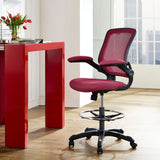Modway Modern Veer Drafting Stool Adjustable Computer Office Chair - Minimal & Modern - 8