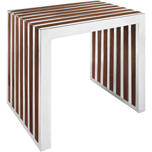 Modway Furniture Gridiron Small Wood Inlay Bench EEI-1429-Minimal & Modern
