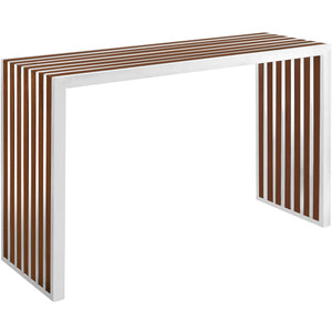 Modway Furniture Gridiron Wood Inlay Console Table EEI-1431-Minimal & Modern