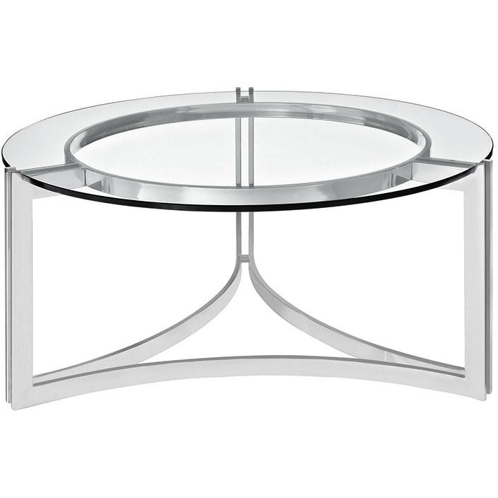 Modway Furniture Signet Stainless Steel And Glass Coffee