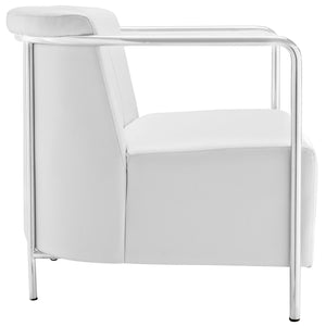 Modway Furniture Modern EBB Vinyl Lounge Chair EEI-1434-Minimal & Modern