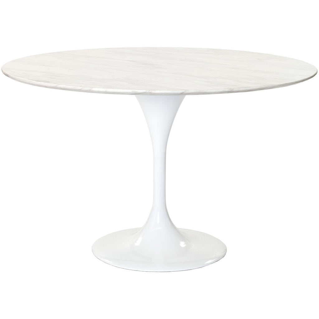 "Modway Furniture Lippa 48"" Marble Modern Dining Table White, dining tables - Modway Furniture, Minimal & Modern - 1"