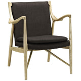 Modway Furniture Modern Makeshift Upholstered Lounge Chair Natural Brown, Chairs - Modway Furniture, Minimal & Modern - 9