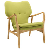 Modway Furniture Modern Heed Lounge Chair Birch Green, Chairs - Modway Furniture, Minimal & Modern - 17