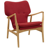 Modway Furniture Modern Heed Lounge Chair Birch Red, Chairs - Modway Furniture, Minimal & Modern - 13