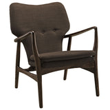Modway Furniture Modern Heed Lounge Chair Walnut Brown, Chairs - Modway Furniture, Minimal & Modern - 5