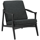 Modway Furniture Pace Armchair Black Gray, Armchair - Modway Furniture, Minimal & Modern - 25