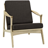 Modway Furniture Pace Armchair Natural Chocolate, Armchair - Modway Furniture, Minimal & Modern - 13