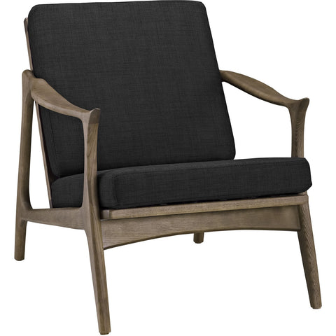 Modway Furniture Pace Armchair Walnut Black, Armchair - Modway Furniture, Minimal & Modern - 1