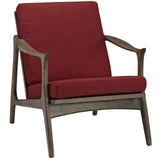 Modway Furniture Pace Armchair Walnut Red, Armchair - Modway Furniture, Minimal & Modern - 9