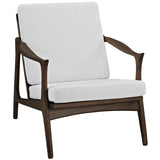 Modway Furniture Pace Armchair Walnut White, Armchair - Modway Furniture, Minimal & Modern - 5