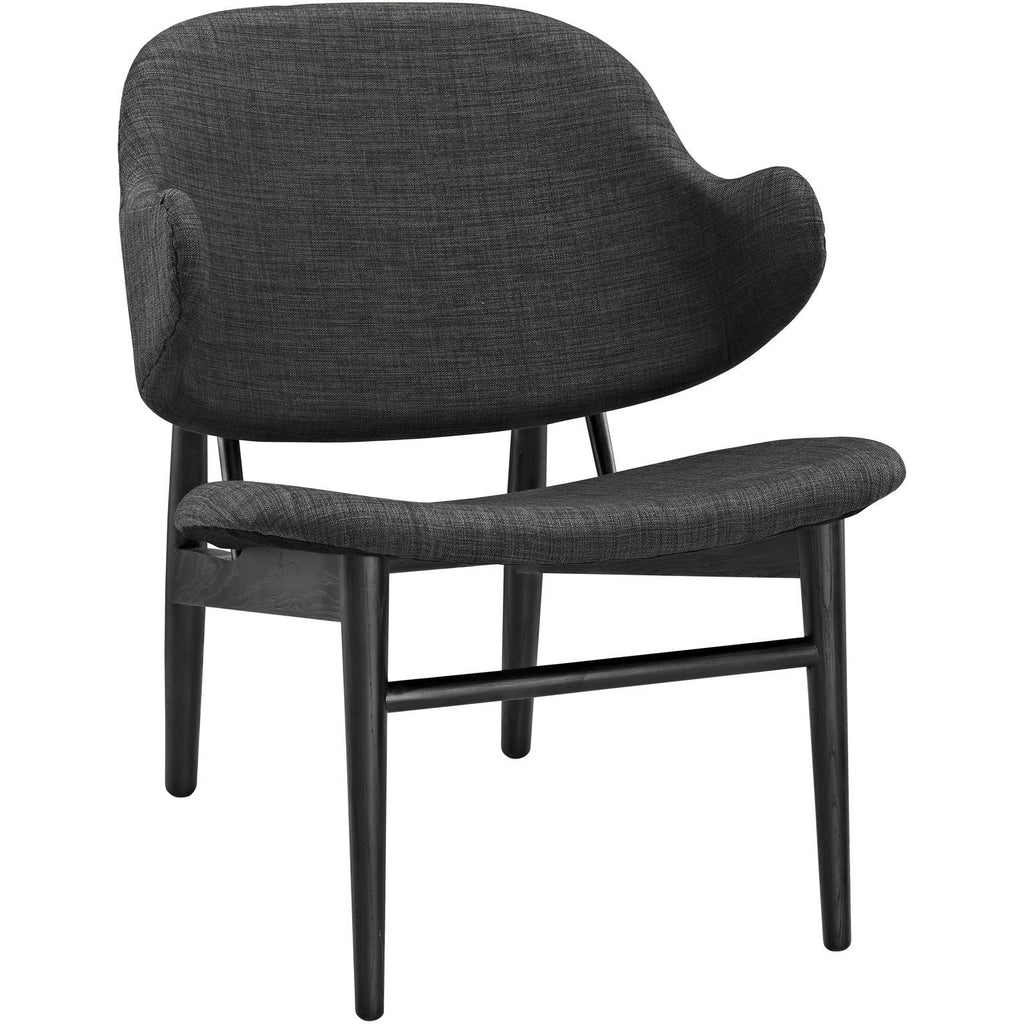 Modway Furniture Modern Suffuse Lounge Chair Black Gray, Chairs - Modway Furniture, Minimal & Modern - 1