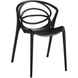 Modway Furniture Locus Modern Dining Side Chair Black, Dining Chairs - Modway Furniture, Minimal & Modern - 1