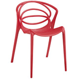 Modway Furniture Locus Modern Dining Side Chair Red, Dining Chairs - Modway Furniture, Minimal & Modern - 9