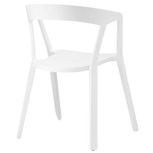 Modway Furniture Tread Modern White Dining Armchair EEI-1454-WHI-Minimal & Modern
