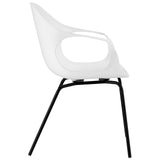 Modway Furniture Swerve Modern White Dining Armchair , Dining Chairs - Modway Furniture, Minimal & Modern - 2