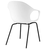 Modway Furniture Swerve Modern White Dining Armchair , Dining Chairs - Modway Furniture, Minimal & Modern - 3