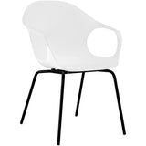 Modway Furniture Swerve Modern White Dining Armchair , Dining Chairs - Modway Furniture, Minimal & Modern - 1