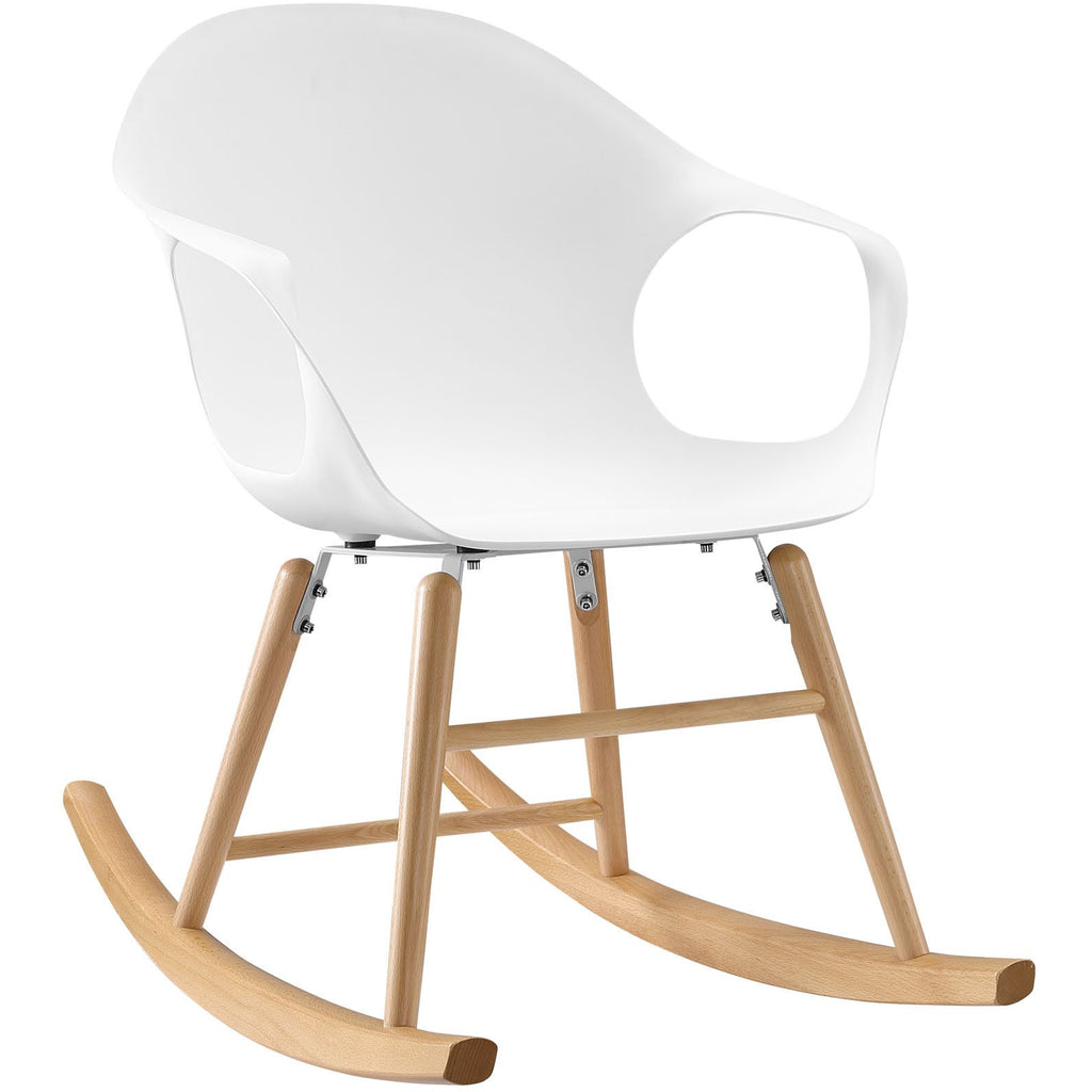 Modway Furniture Modern Swerve Rocking Chair , Chairs - Modway Furniture, Minimal & Modern - 1