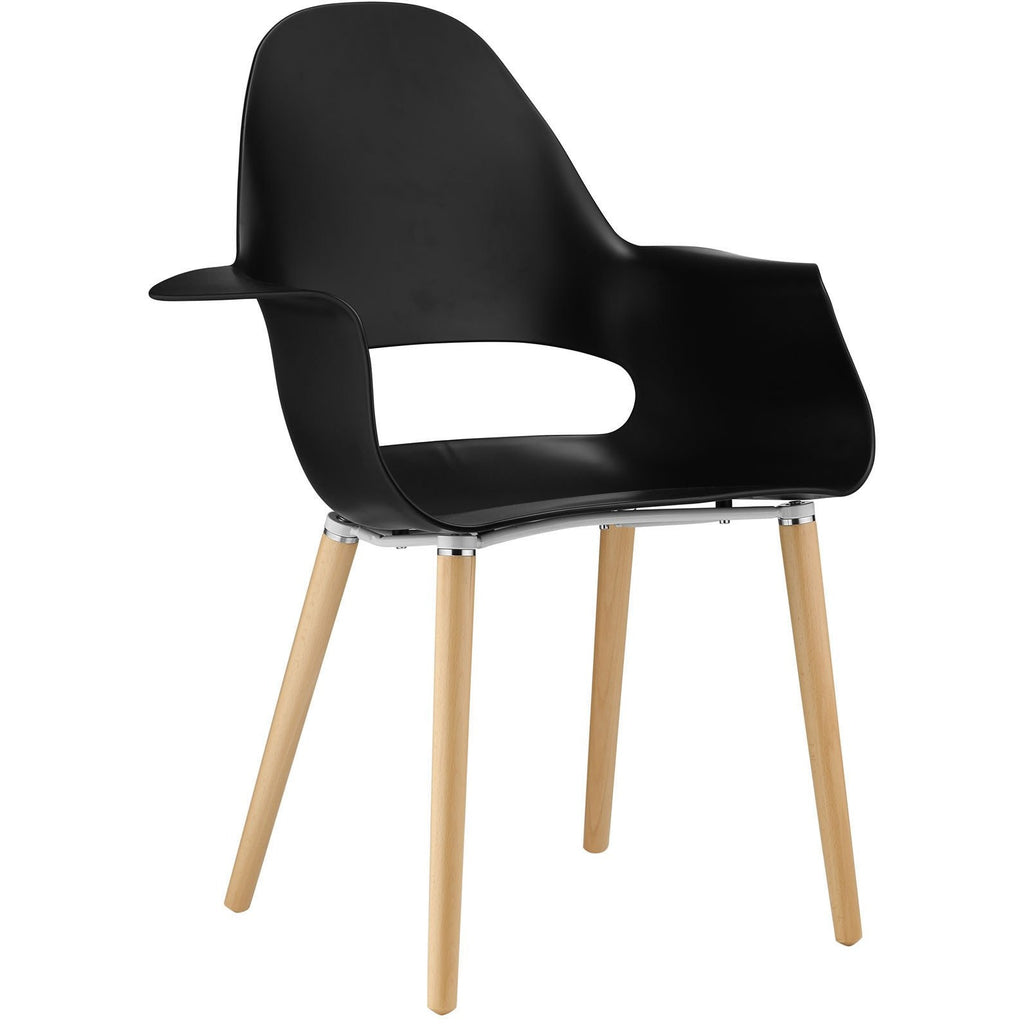 Modway Furniture Soar Modern Dining Armchair Black, Dining Chairs - Modway Furniture, Minimal & Modern - 1
