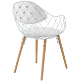 Modway Furniture Basket Modern White Dining Metal Armchair , Dining Chairs - Modway Furniture, Minimal & Modern - 3