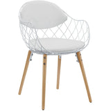 Modway Furniture Basket Modern White Dining Metal Armchair , Dining Chairs - Modway Furniture, Minimal & Modern - 1