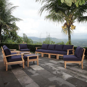 Modway Furniture Modern Marina 10 Piece Outdoor Patio Teak Set - EEI-1489