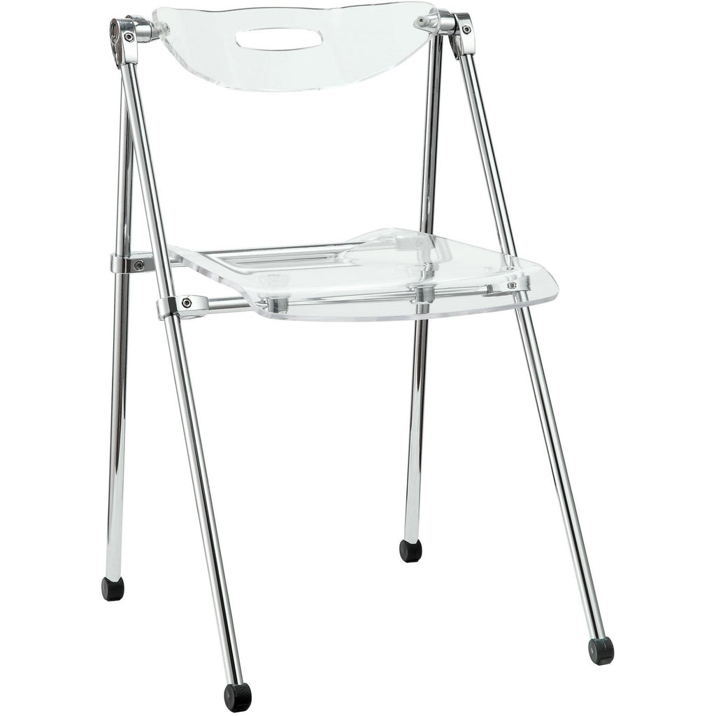 Modway Furniture Telescope Folding Chair Clear, Dining Chairs - Modway Furniture, Minimal & Modern - 1