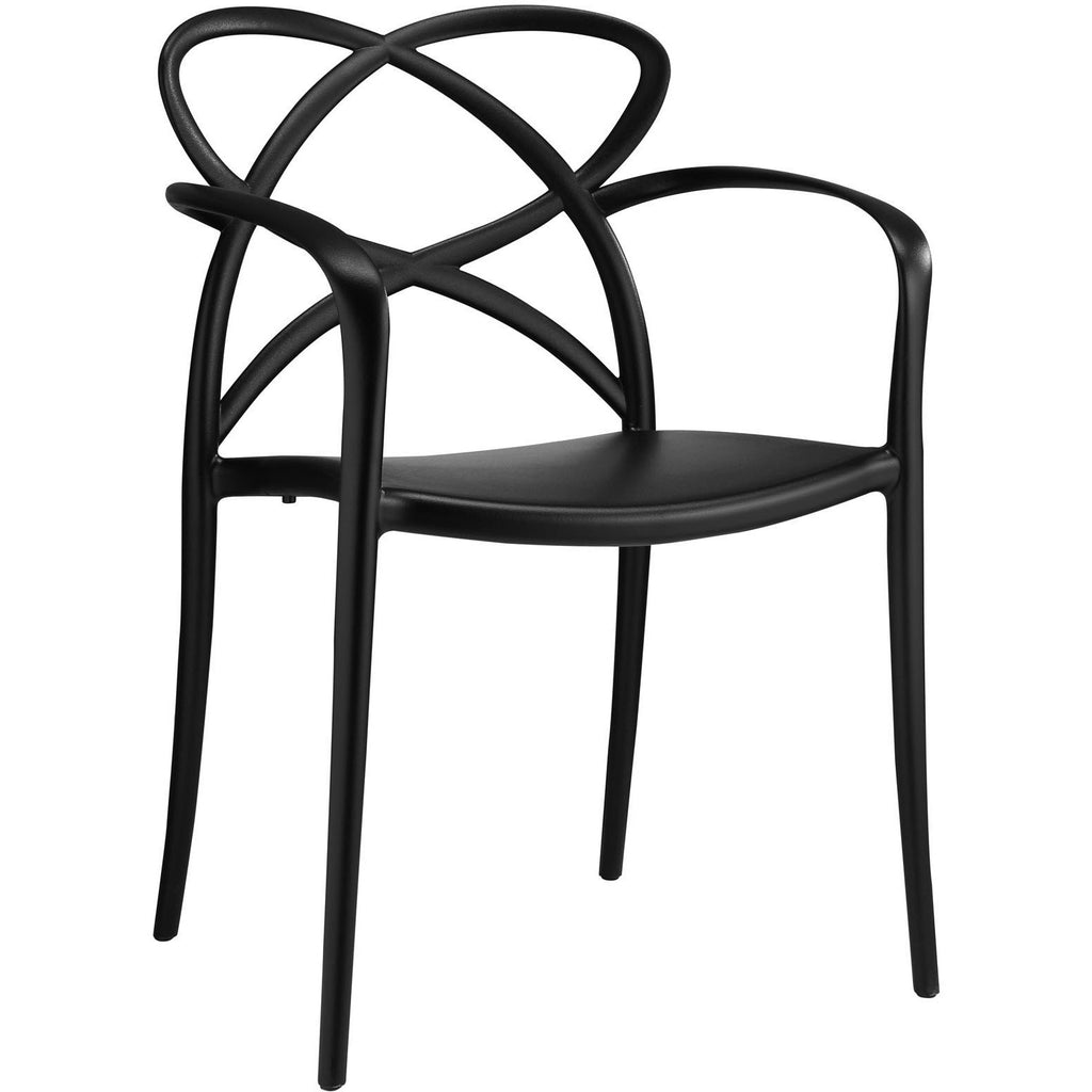 Modway Furniture Enact Modern Dining Armchair Black, Dining Chairs - Modway Furniture, Minimal & Modern - 1