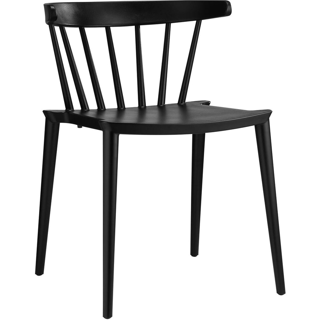 Modway Furniture Spindle Modern Dining Side Chair Black, Dining Chairs - Modway Furniture, Minimal & Modern - 1