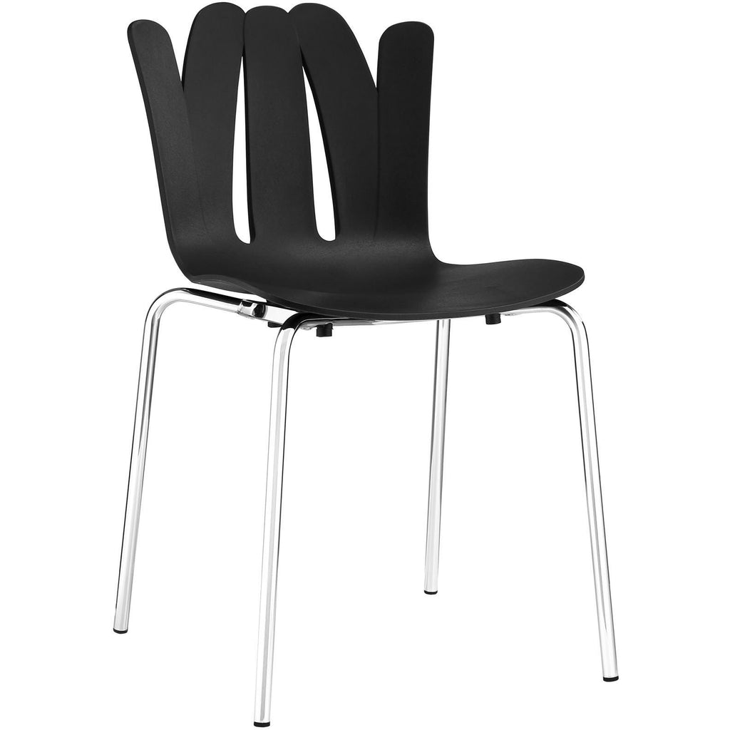 Modway Furniture Flare Modern Dining Side Chair Black, Dining Chairs - Modway Furniture, Minimal & Modern - 1
