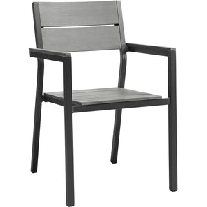 Modway Furniture Maine Dining Outdoor Patio Armchair Brown Gray, Bar and Dining - Modway Furniture, Minimal & Modern - 1