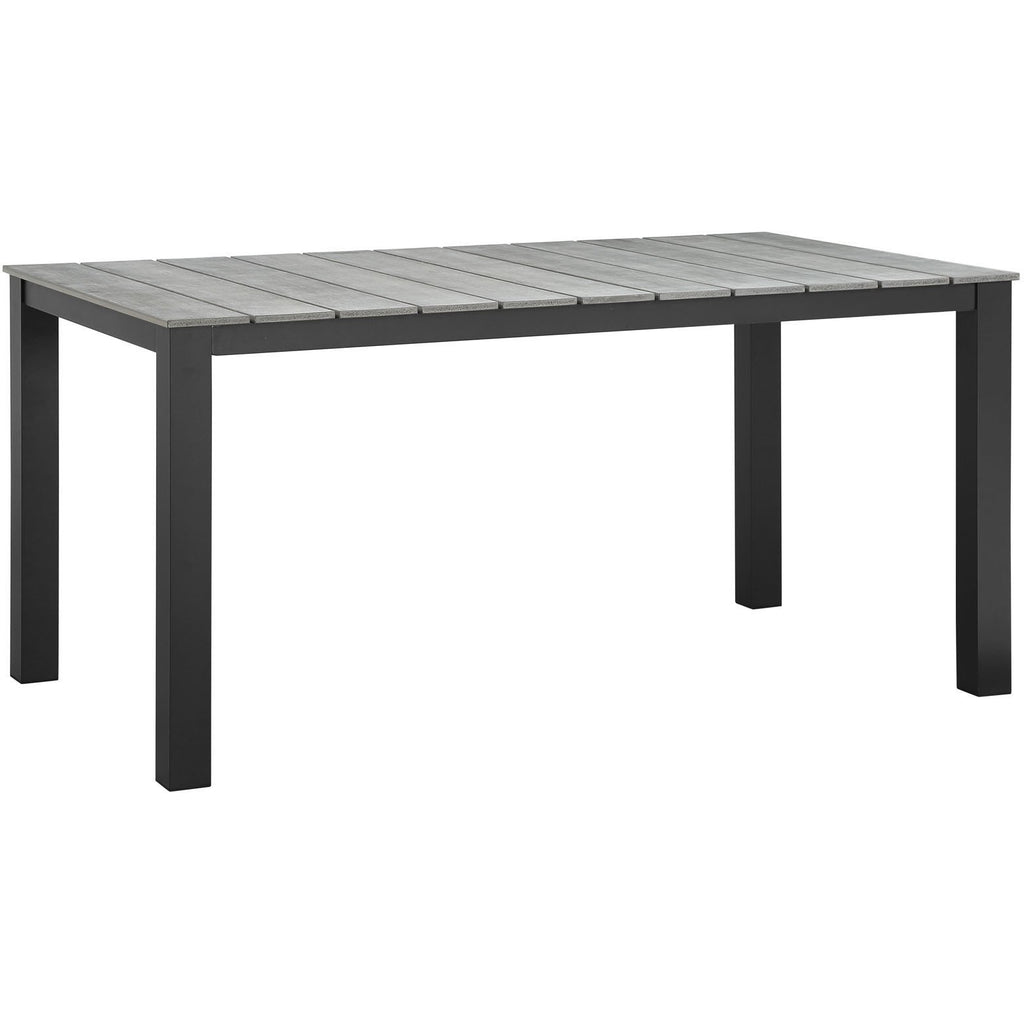 "Modway Furniture Maine 63"" Outdoor Patio Dining Table Brown Gray, Bar and Dining - Modway Furniture, Minimal & Modern - 1"