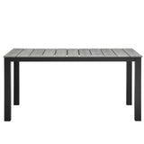 "Modway Furniture Maine 63"" Outdoor Patio Dining Table , Bar and Dining - Modway Furniture, Minimal & Modern - 2"