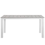 "Modway Furniture Maine 63"" Outdoor Patio Dining Table , Bar and Dining - Modway Furniture, Minimal & Modern - 5"