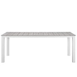 "Modway Furniture Maine 80"" Outdoor Patio Dining Table , Bar and Dining - Modway Furniture, Minimal & Modern - 5"