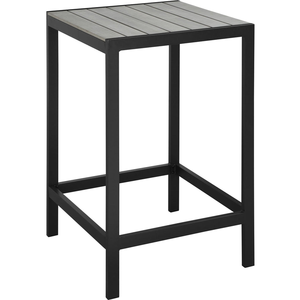 Modway Furniture Maine Outdoor Patio Bar Table Brown Gray, Bar and Dining - Modway Furniture, Minimal & Modern - 1