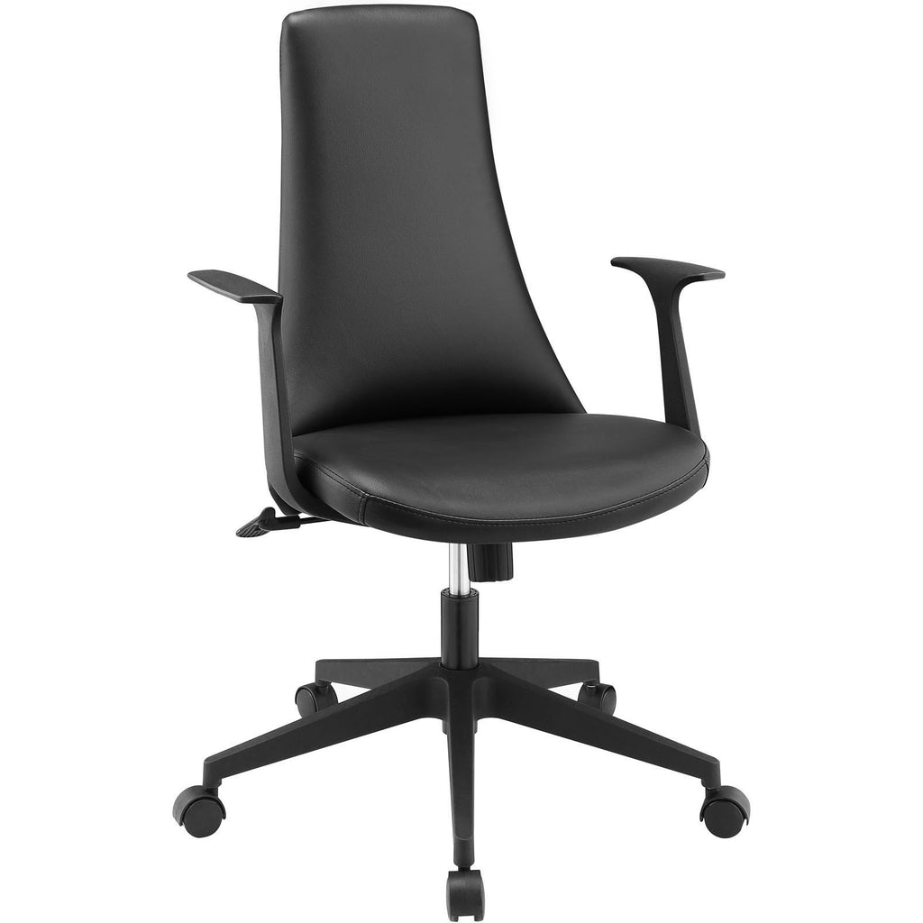 Modway Modern Fount Mid Back Adjustable Computer Office Chair - Minimal & Modern - 1