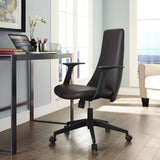Modway Modern Fount Mid Back Adjustable Computer Office Chair - Minimal & Modern - 20