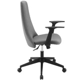 Modway Modern Fount Mid Back Adjustable Computer Office Chair - Minimal & Modern - 14