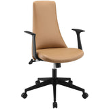 Modway Modern Fount Mid Back Adjustable Computer Office Chair - Minimal & Modern - 9