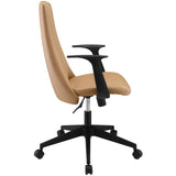 Modway Modern Fount Mid Back Adjustable Computer Office Chair - Minimal & Modern - 10