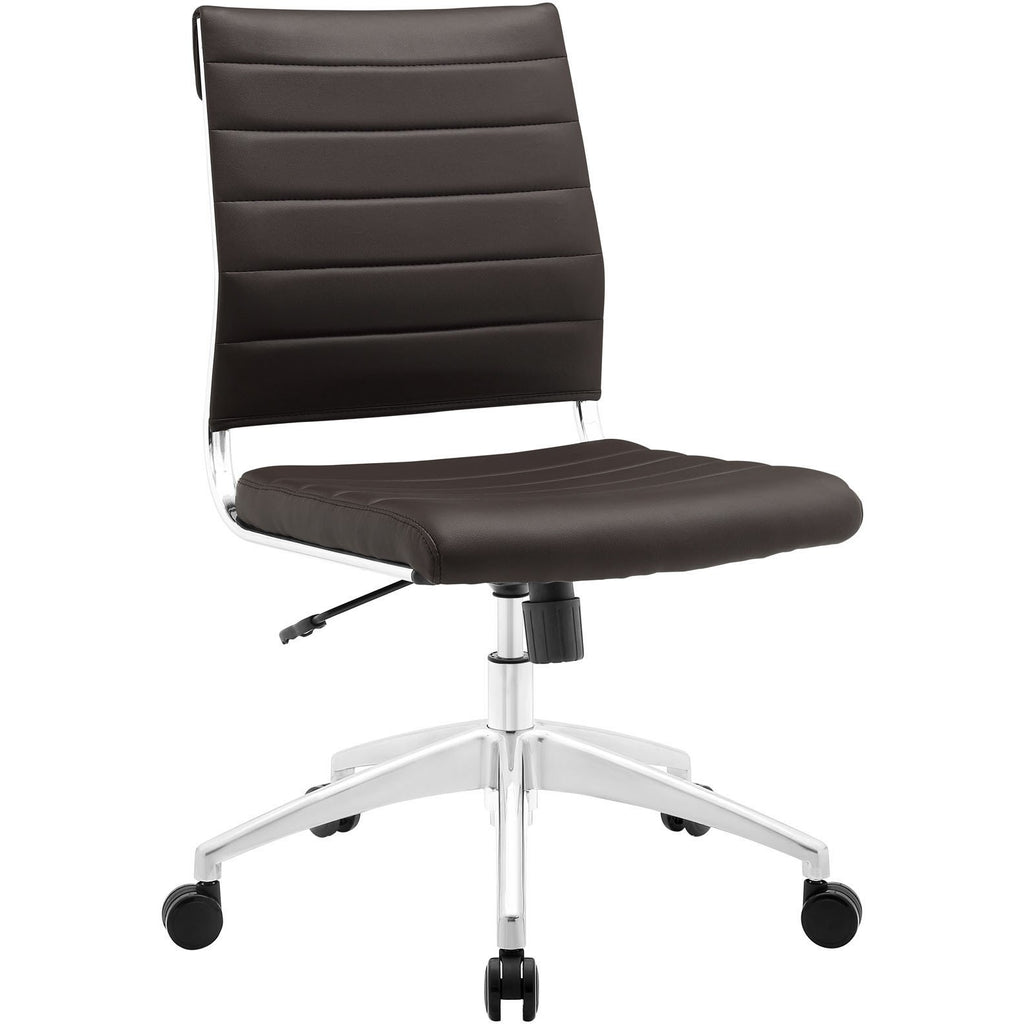 Modway Modern Jive Armless Mid Back Adjustable Computer Office Chair - Minimal & Modern - 1