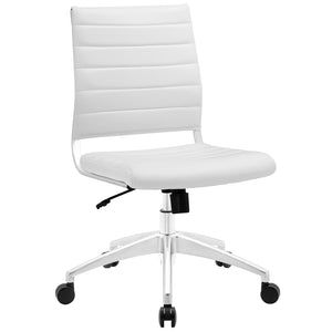 Modway Modern Jive Armless Mid Back Adjustable Computer Office Chair EEI-1525-Minimal & Modern
