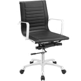Modway Modern Runway Mid Back Adjustable Computer Office Chair - Minimal & Modern - 17