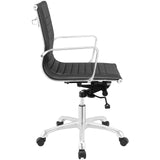 Modway Modern Runway Mid Back Adjustable Computer Office Chair - Minimal & Modern - 18