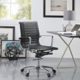 Modway Modern Runway Mid Back Adjustable Computer Office Chair - Minimal & Modern - 20