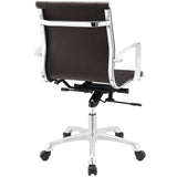 Modway Modern Runway Mid Back Adjustable Computer Office Chair - Minimal & Modern - 15